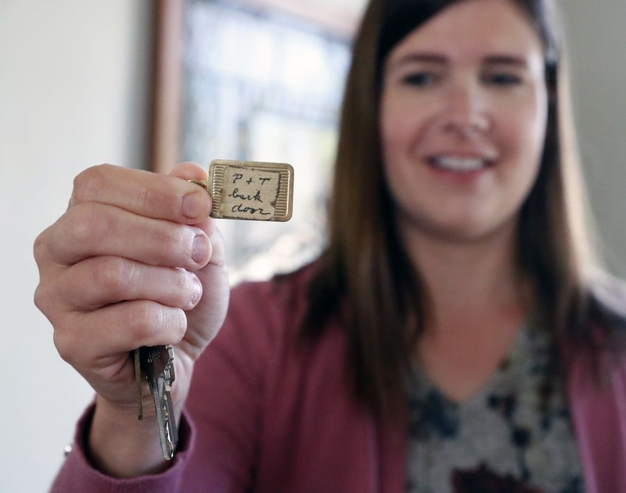 """Elizabeth Suwanski now lives in the St. Charles house where Terry Donahue and Pat Henschel (subjects of new Netflix documentary, """"A Secret Love"""") once lived. Suwanski holds a set of keys left behind by the previous owners."""
