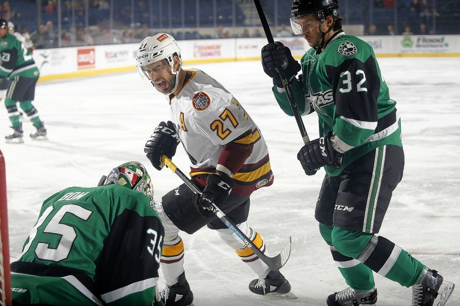 Brandon Pirri finished the season with 15 goals in 38 games for the Wolves.