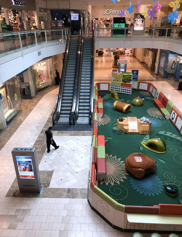 Hawthorn Mall in Vernon Hills emptied out in March after a stay-at-home order to prevent COVID-19 went into effect. The economic hit is causing municipal revenue to plummet.