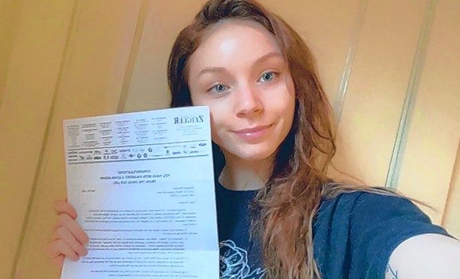 """Amanda Pflaumer: """"I am so grateful to be a recipient of this scholarship because my education has always been so important to me and I want to continue to pursue a career as a lawyer."""""""
