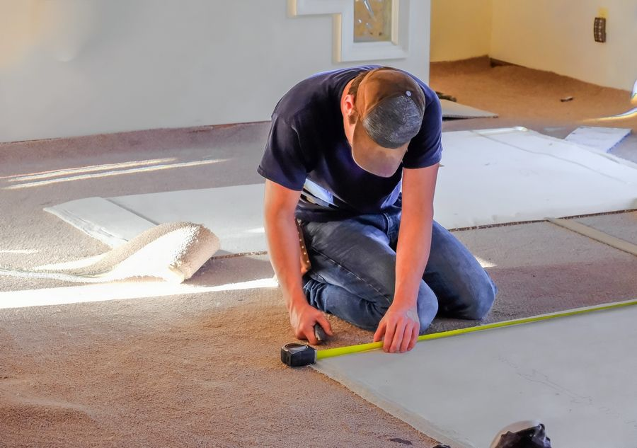 Carpeting is among the least costly flooring options, spanning roughly $3 to $12 per square feet installed.