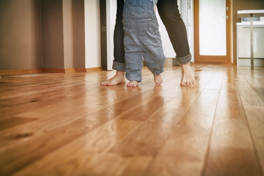 Wood floors, whether it's solid hardwood or engineered and made of multiple layers, are durable, attractive and easy to clean.