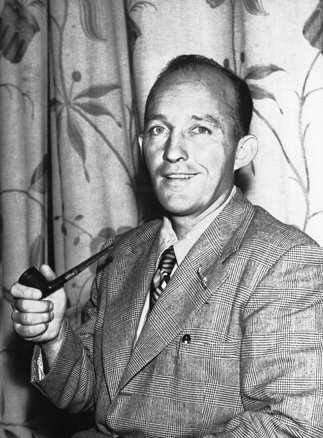 Bing Crosby poses on Aug. 31, 1944, in London before going off to entertain American troops.
