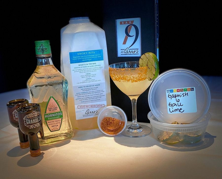 Smoky Rita cocktail kits are available from Perry's Steakhouse & Grille in Oak Brook.