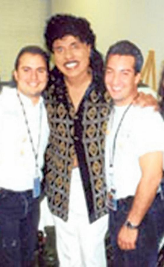 Little Richard with Ron Onesti, left, and his brother Rich Onesti.