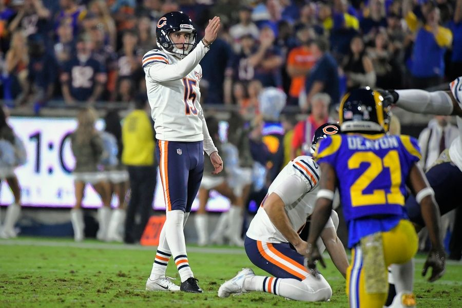 Rookie Eddy Pineiro was 21st in points among NFL placekickers and a clear upgrade over Cody Parkey, but a midseason slump caused him to hit just 23-of-28 field goal attempts. He only tried twice from outside the 50, but he did hit both of them.