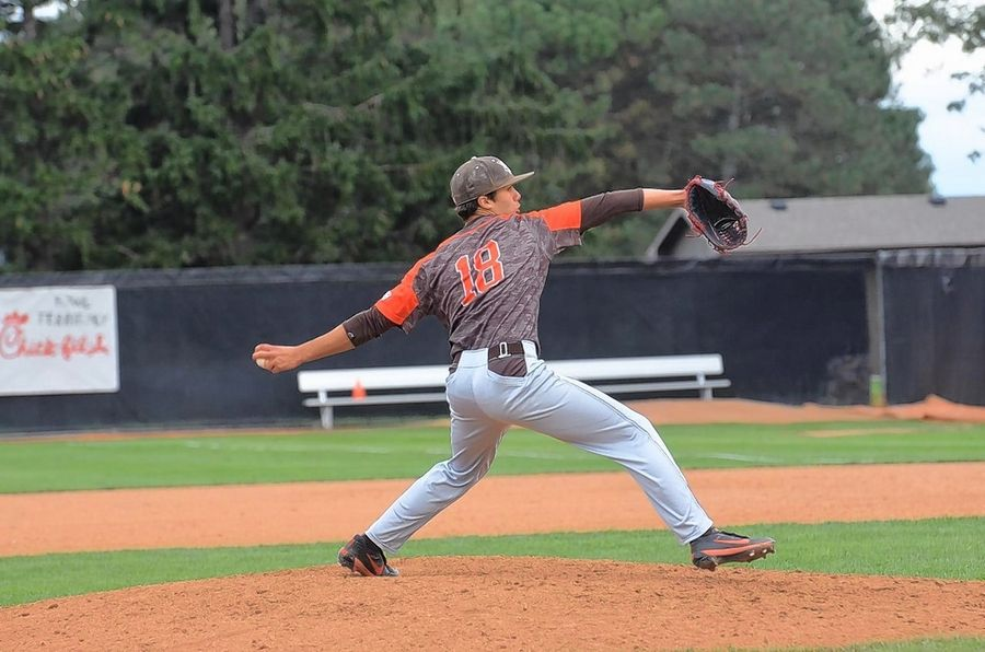 Former Carmel Catholic pitcher Jay Ward delivers a pitch for Bowling Green State University, which recently cut its baseball program.