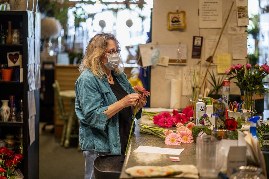 Jenny Latham is struggling to pay the $3,800 monthly rent for her shop, Celidan Creations Florist. Her mom Karin Jacobs, who founded the store in 1992, passed away last month.