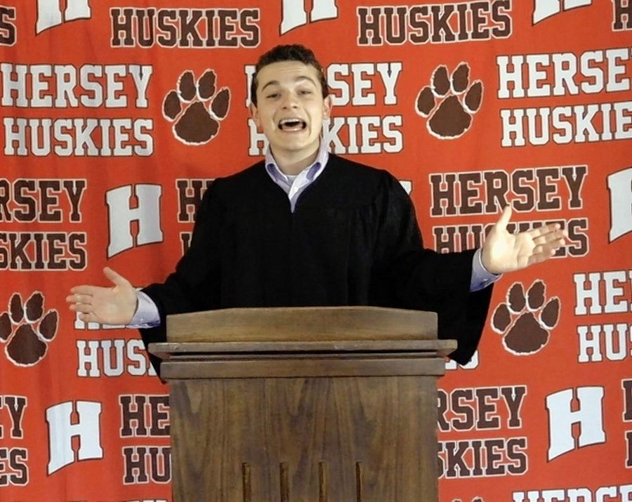 Jack Aiello of Arlington Heights, who four years ago went viral with a middle school graduation speech featuring spot-on impersonations of 2016 presidential hopefuls, revisited the theme this year when he was chosen to give the commencement address for Hersey High School.