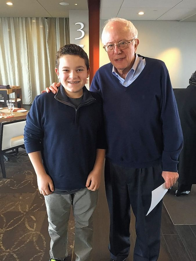 A younger Jack Aiello met with Sen. Bernie Sanders after his impersonation of the two-time presidential candidate went viral in 2016.