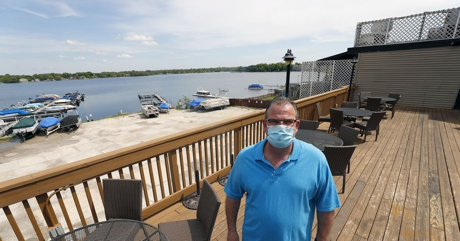 Jeff Lencioni of Docks Bar and Grill in Wauconda will reopen the restaurant's patio on Friday, May 29. To reinforce social distancing, the restaurant has reduced the seating capacity for its patio that overlooks Bangs Lake.
