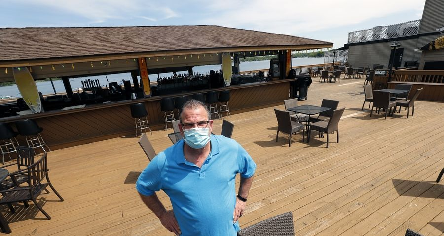 Jeff Lencioni of Docks Bar and Grill in Wauconda is excited to be opening their patio on Friday on a first-come, first-serve basis. The restaurant has reduced the seating capacity for its patio that overlooks Bangs Lake.