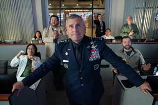 "Steve Carell plays decorated Air Force Gen. Mark Naird, who is chosen to lead the new United States Space Force, in ""Space Force."""