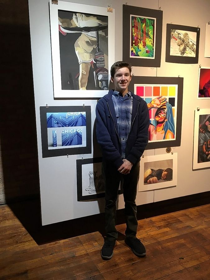 Palo Vacala from Maine South High School was among those awarded a scholarship by the Illinois High School Art Exhibition.