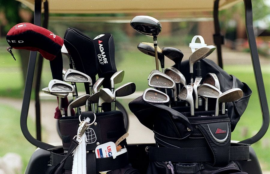 Golf carts are back in use at Buffalo Grove Golf Club and The Arboretum Club in Buffalo Grove. Village officials on Monday eased a host of restrictions that had been put in place to slow the spread of COVID-19.