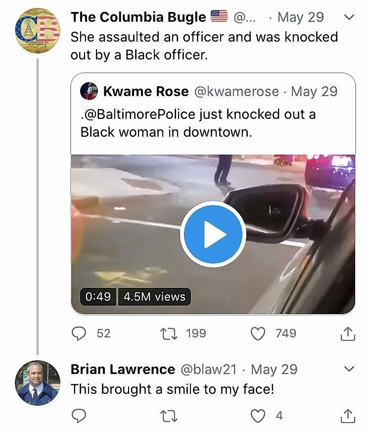 A tweet sent by now retired Elgin Police Detective Brian Lawrence.