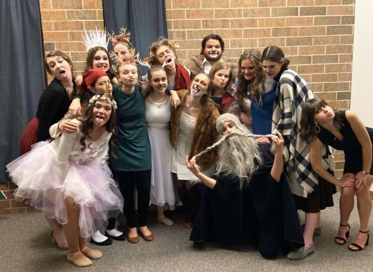 Theater students at Westminster Christian School in Elgin.