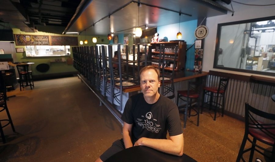 Jason Ebel, co-founder of Two Brothers Brewing Company in Warrenville, said the COVID-19 pandemic has forced the brewery to think outside the box.