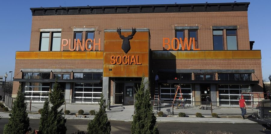 Punch Bowl Social at 1100 American Lane in Schaumburg, seen here preparing for its 2015 opening, has closed permanently due to a disagreement over lease terms at the 22,000-square-foot building.