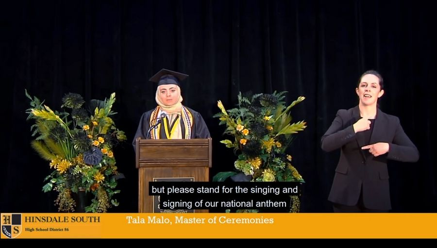 Tala Malo was a senior speaker in Hinsdale South's 2020 virtual graduation ceremony.