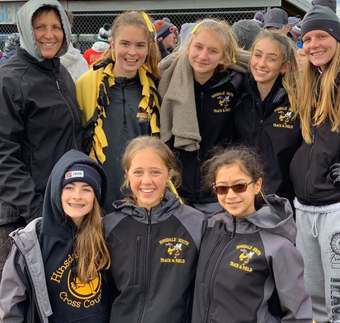 Hinsdale South High School girls track and field team competed at the York, Willowbrook and Glenbrook South Invites in February.