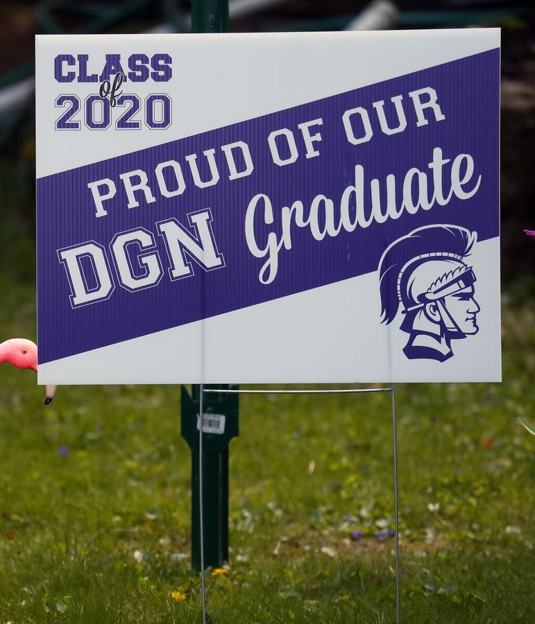 Downers Grove North High School graduation sign.