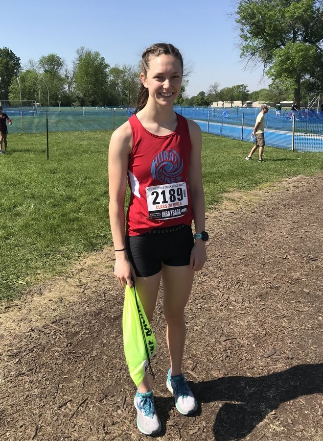Marian Central Catholic runner Siobhan Stoll finished in eighth place at the Class 2A IHSA state cross country meet.