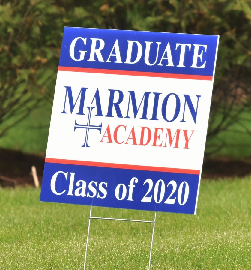 Marmion Academy graduation sign.