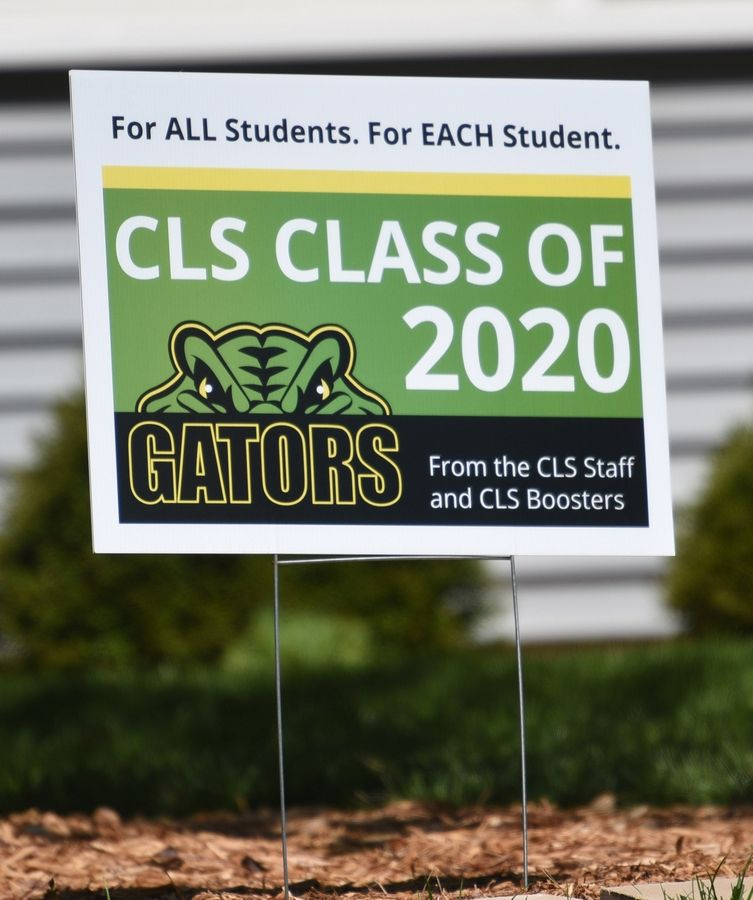 Crystal Lake South High School 2020 senior graduation sign.