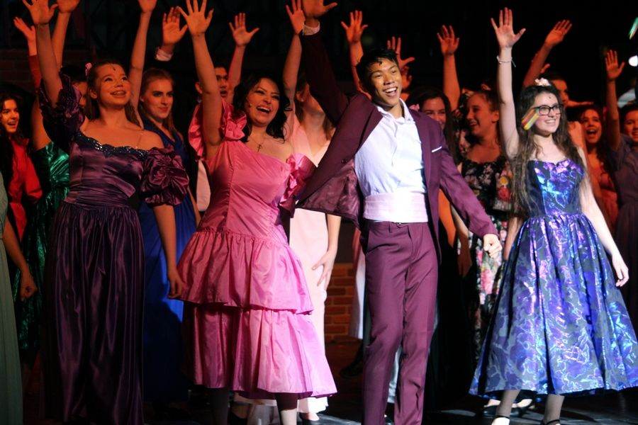"Students perform in Barrington High School's winter musical ""Footloose."""