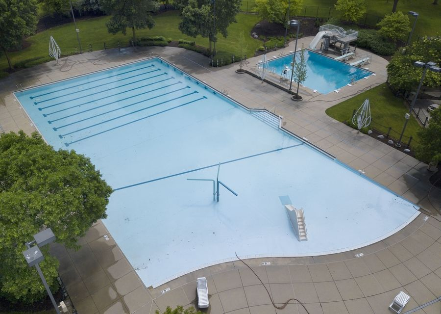 The pool at Pioneer Park in Arlington Heights has been filled in preparation for lifeguard training, and eventually, limited use by the public as soon as June 26.