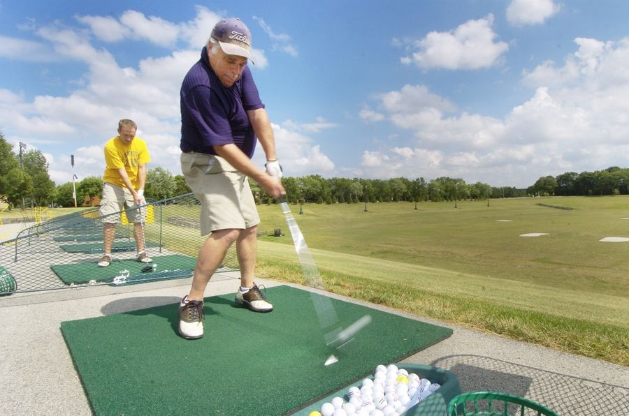 The driving range at Sunset Meadows Park in Arlington Heights is expected to reopen Friday.