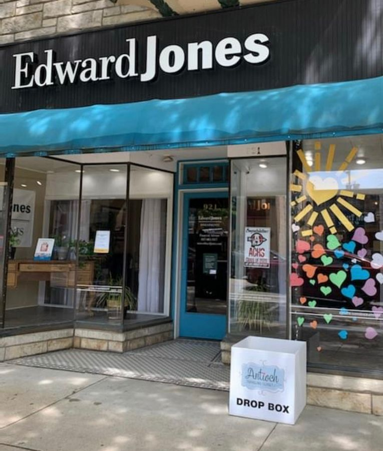 The Edward Jones office at 921 Main St. in Antioch is one business holding a food drive to benefit the Antioch Traveling Closet. Nonperishable food items can be dropped off in the collection box outside of the company's office. Another Antioch business, the Limerick Lounge, 912 Toft Ave., will also be hosting a food drive for the ATC.