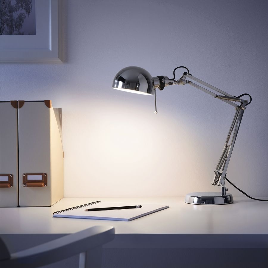 The IKEA Forsa work lamp with LED bulb costs $26.99 and has a lot of style for the price.