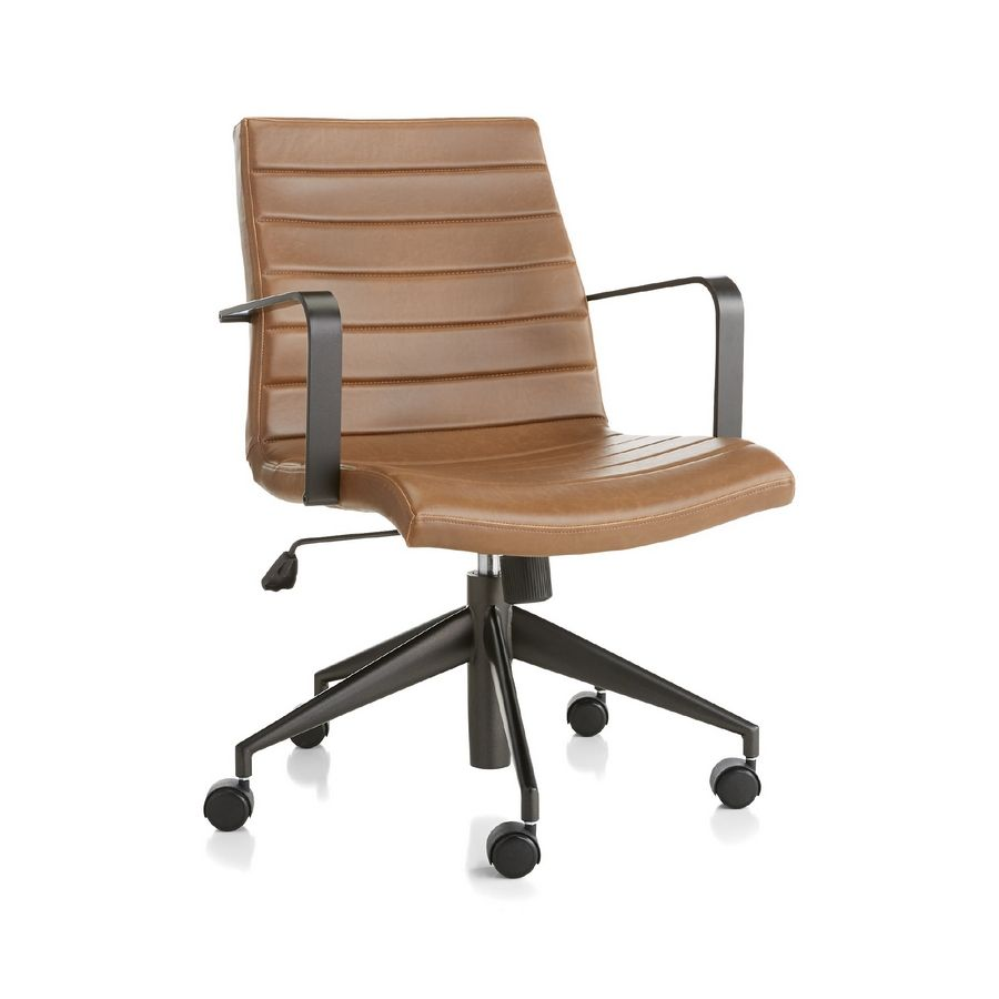 Designer Loi Thai picked a streamlined, $349 Graham leather desk chair that has a stylish look and small footprint.