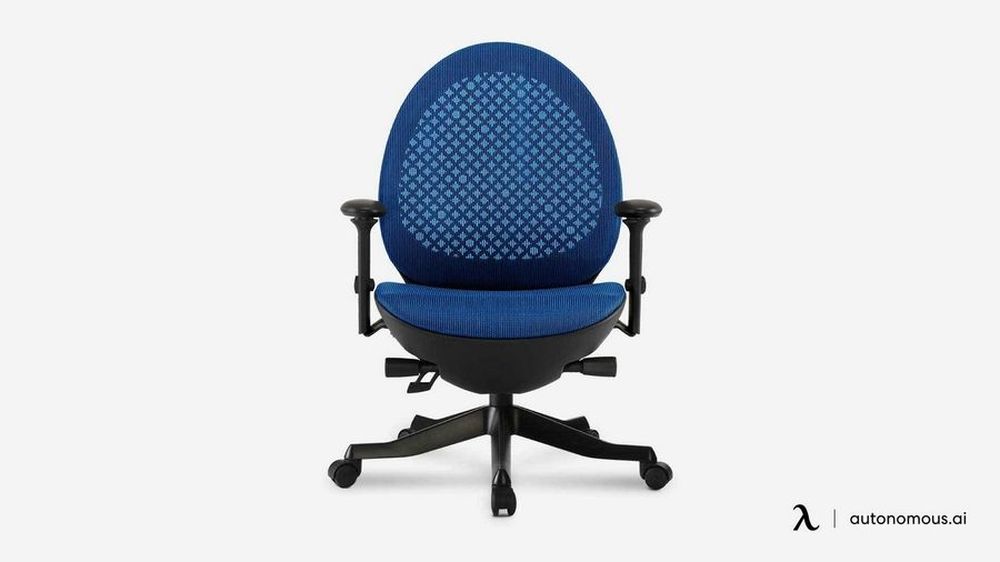 The ergonomic Avo chair by Autonomous has clean, flowing lines and a mesh back as well as adjustable arm rests and seat height. Designer Young Huh says it offers comfort and style at a good price, $219 at autonomous.ai.