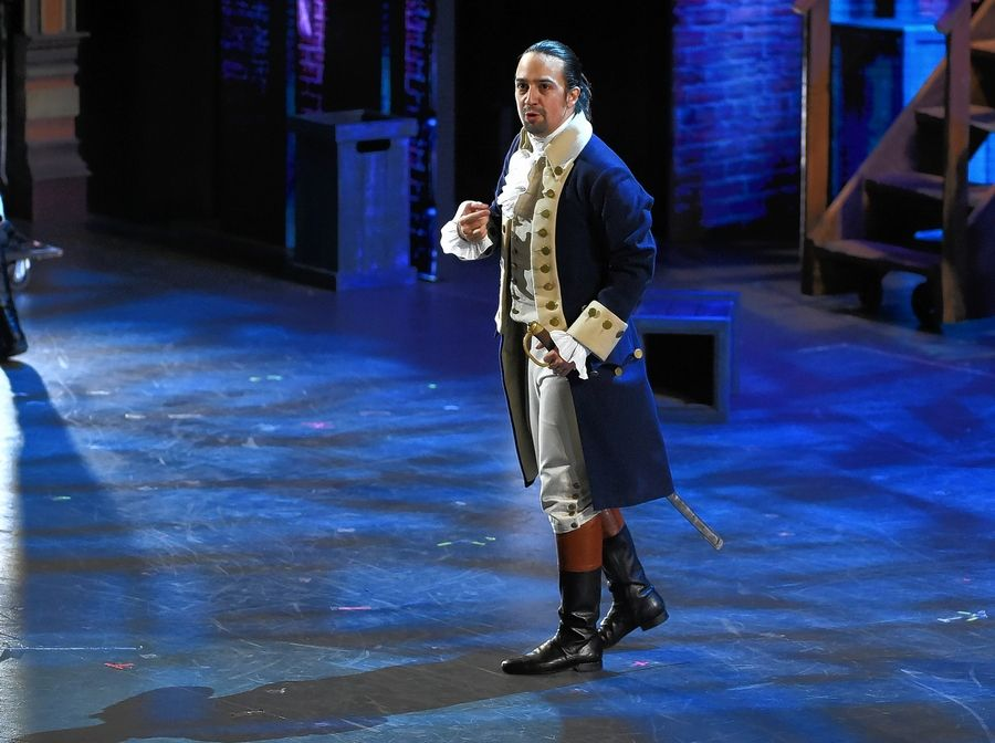 "Associated Press""Hamilton"" star Lin-Manuel Miranda performs at the Tony Awards in 2016."