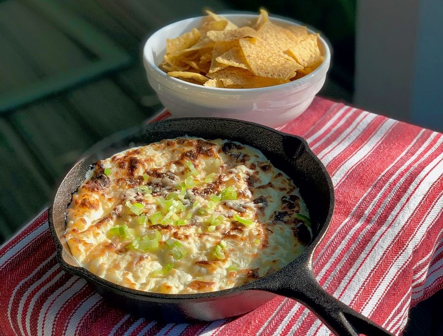 By baking the simple onion dip, it puts a whole new twist on a classic.