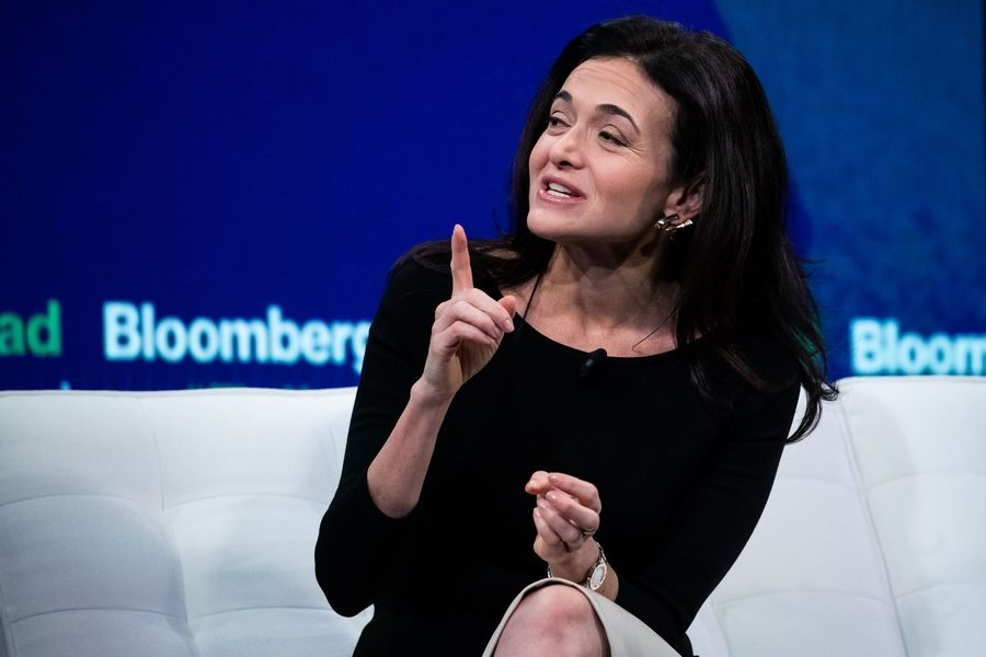 Mark Kauzlarich/Bloomberg Sheryl Sandberg, chief operating officer of Facebook, at the Bloomberg Year Ahead Summit in New York on Nov. 7, 2019.