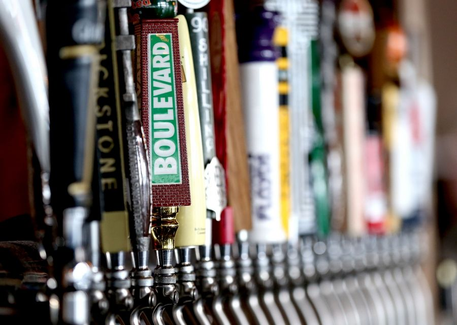 An expansive draft beer selection awaits patrons at Spears Bourbon, Burgers and Brew in Wheeling.