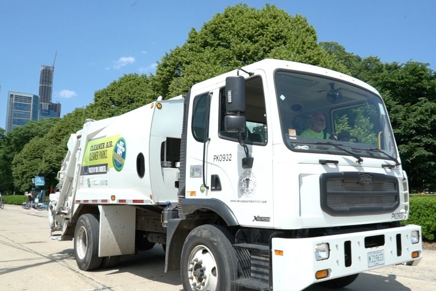 The Chicago Park District is improving air quality by fueling park refuse haulers with 100 percent biodiesel.