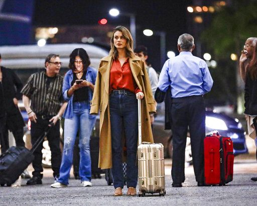 "In this image released by ABC, Nathalie Kelley appears in a scene from ""The Baker and the Beauty."" Fans have launched a petition drive to find the sitcom a new home after it was canceled by ABC. (Kenneth Rexach/ABC via AP)"