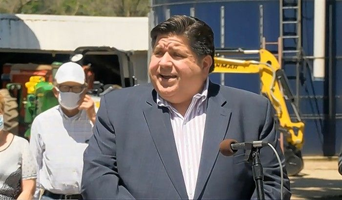 Gov. J.B. Pritzker announces $50 million in grants for 28 projects aimed at expanding broadband internet access across the state. The governor spoke Wednesday in Geneseo.
