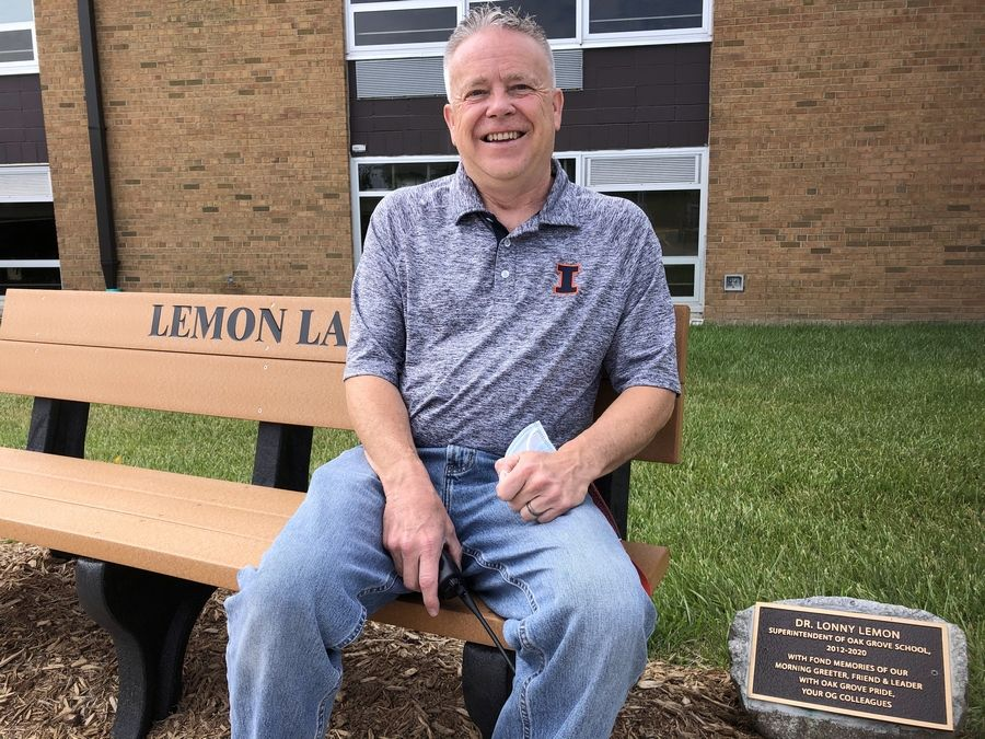 After eight years, Lonny Lemon retired Wednesday as superintendent at Oak Grove District 68.