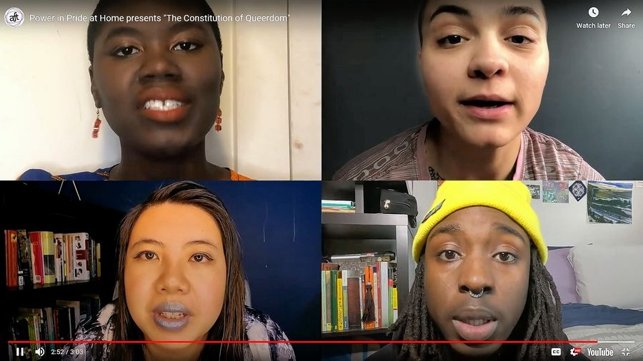 """About Face Theatre's touring ensemble is adapting """"Power in Pride"""" into a series of YouTube online shorts."""