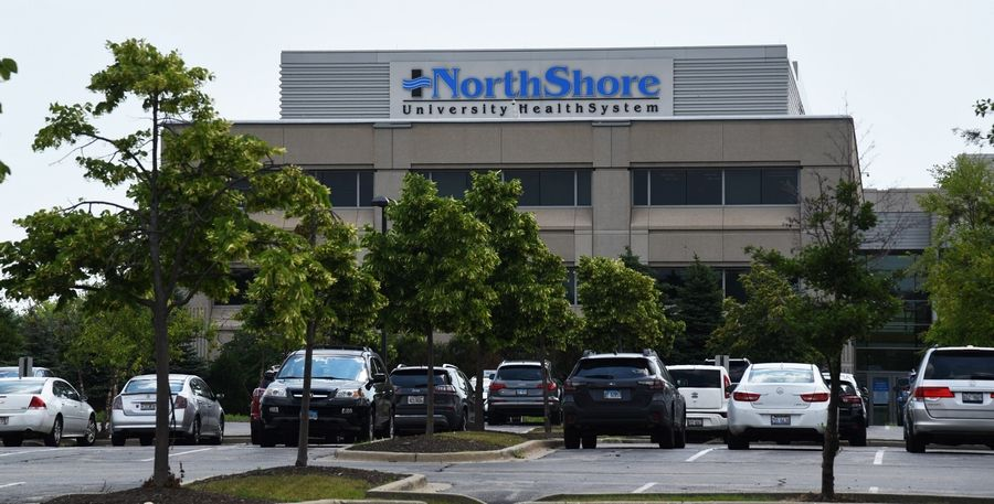 NorthShore University HealthSystem sent nearly all coronavirus patients to Glenbrook Hospital in Glenview, where teams of health care workers concentrated specifically on fighting the global crisis, hospital President Jesse Peterson Hall said.