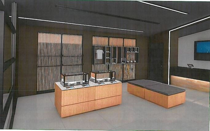 A rendering of the interior of the Zen Leaf recreational marijuana dispensary proposed for the former First Midwest Bank building at 1434 N. Rand Road in Prospect Heights.