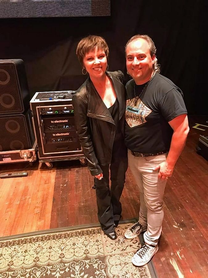 Musician Pat Benatar and Arcada Theatre owner Ron Onesti have grown to be close friends over the years.