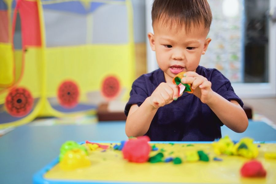 Activities that develop fine-motor skills in children can be a bit messy, but fun, too.