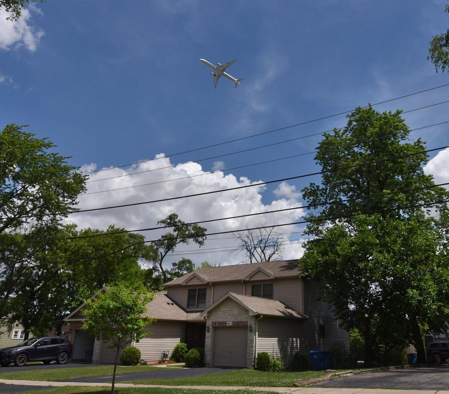 The COVID-19 pandemic has meant fewer jets taking off from O'Hare International Airport and over homes at Marshal Road And Stoneham Street in Bensenville -- and fewer noise complaints. But that may change as air traffic begins to pick up, experts say.
